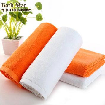 100% Cotton Bath Towel Jacquard design Thick High Quality Towels Bathroom /Hotel White Color Bath Mat yellow