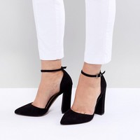 ASOS DESIGN Pebble Wide Fit Pointed High Heels at asos.com