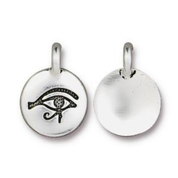 94-2503-12 - TierraCast Eye Of Horus Charm, Antique Silver | Pkg 2
