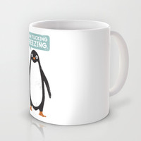 Talking Penguin Mug by David Olenick