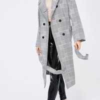 Road To Success Plaid Trench