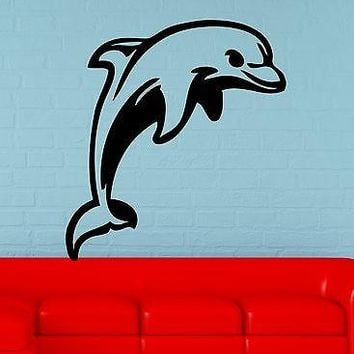 Wall Stickers Vinyl Decal Dolphin Ocean Marine Animal Nursery Bathroom Unique Gift (ig970)