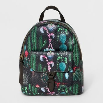 Maya Mini Backpack Handbag - T-Shirt & Jeans Black/Green