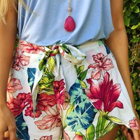 Floral Delight Shorts: Multi