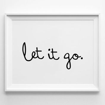 Freedom poster print, typography art, wall decor, mottos, leave, inspirational, words, graphic design, life quote, let it go, unhappy