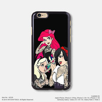 Disney Princesses Tattooed iPhone Case Black Hard case 336