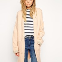 ASOS Longline Cardigan With Patch Pockets at asos.com