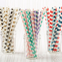 Colorful Paper Party Straws