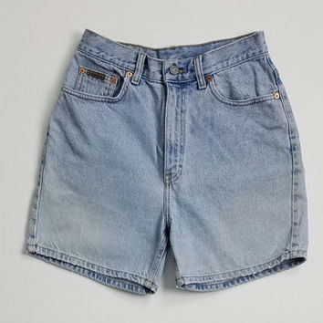 CK Jeans Light Wash Denim Shorts Made In USA Size 8