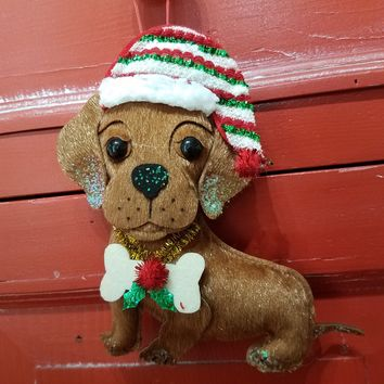 Dachund Dog Felt Ornament