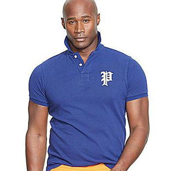 Polo Ralph Lauren Big & Tall Custom-Fit Mesh Polo Shirt - Polo Black 2