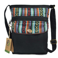 Mato Boho Black Cross body Purse with Bohemian Tribal Aztec Pattern