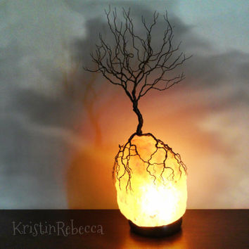 Wire Tree of Life Sculpture Himalayan Salt Lamp Tree Lamp