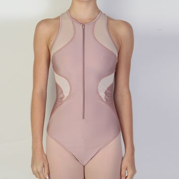 Contour Zip-Up Leotard by Bullet Pointe