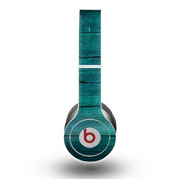 The Bright Emerald Green Wood Planks Skin for the Beats by Dre Original Solo-Solo HD Headphones