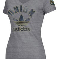 Adidas Philadelphia Union Womens Large Trefoil Tri-Blend T-Shirt
