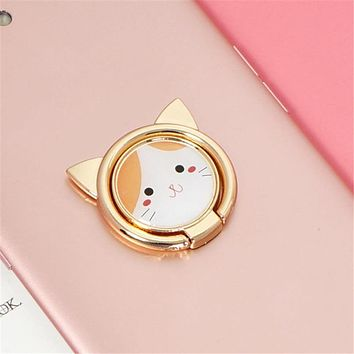 Super Cute Metal Cat Finger Ring Smart Phone Stand Holder