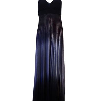 Betsy & Adam Women's Ombre Pleated Embellished Dress