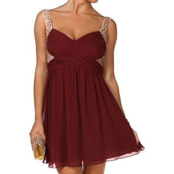 Mar- Burgundy Prom Dress