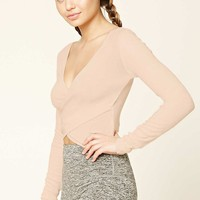 Active Cropped Surplice Top