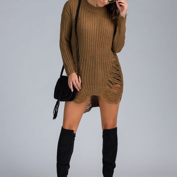 Distress Me Oversized Knit Sweater