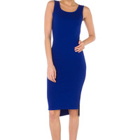 Never Lovin' You Royal Blue Midi Dress