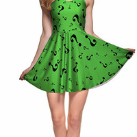 BadAssLeggings Women's Green Riddler Above Knee Sleeveless Mini Dress Medium