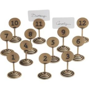 Set Of 12 Table By Numbers Placecard Holders