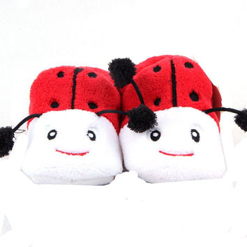 Adorable Lady but Girls Baby Bootie , Red ,Black and White (0-12 months)