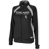 Chicago White Sox Ladies Great Play Track Jacket - Black