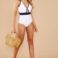 Chic In The Sun White One Piece