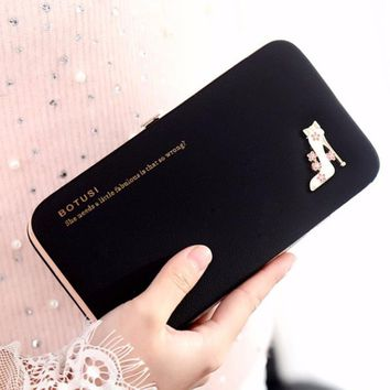 2018 New And High Quality 6 Colors Women Fashion Clutch Handbag Wallet Design For Women Lady Wallet Casual