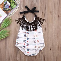 Baby Girls Arrow Romper