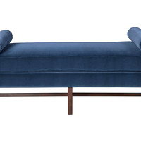 Andrew Velvet Day Chaise, NavyKRISTIN DROHAN COLLECTION