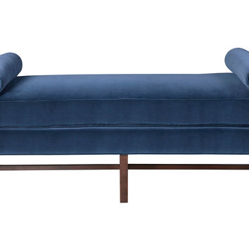 Andrew Velvet Day Chaise, Navy, Daybeds
