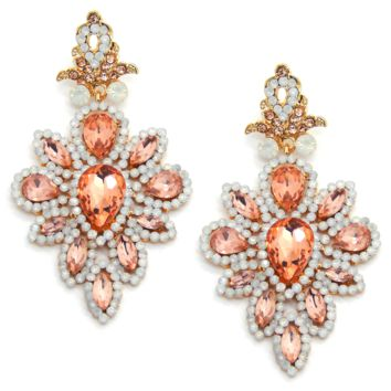 Arabesque Earrings in Rose Peach