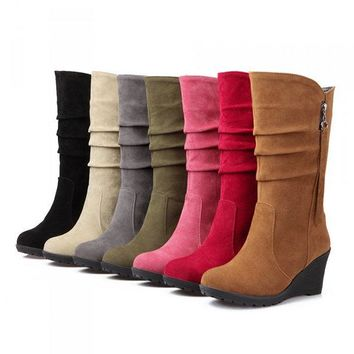 Large Size Wedge Boots