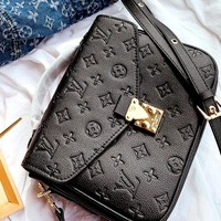 LV Metis women's classic print embossed shoulder bag