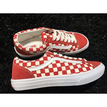 Vans Old Skool Style 36 Red Low Tops Flats Shoes Canvas Sneakers Sport Shoes
