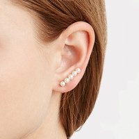 Faux Pearl Ear Pin Set