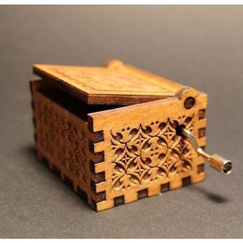 Wood Carving Music Box