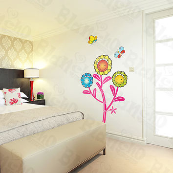 Dancing Sunflowers - Large Wall Decals Stickers Appliques Home Decor