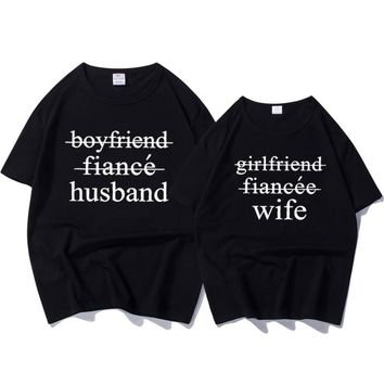 Husband And Wife Newly Weds Couple Funny Pair T-Shirts