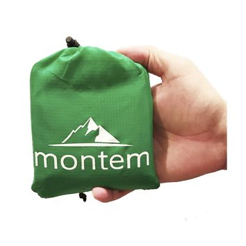 Montem Premium Pocket Blanket / Compact Picnic, Beach, Outdoor, Camping Blanket Made From Premium Soft and Lightweight Waterproof Material Ideal for Camping / Traveling / Hiking