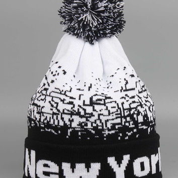 NEW YORK Jacquard Hat & Beanie