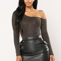 Smile And Shine Lurex Bodysuit - Black Combo