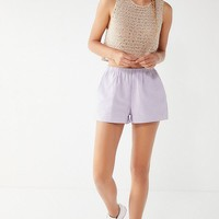Urban Renewal Remnants Seersucker Striped Pull-On Short | Urban Outfitters