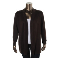 JM Collection Womens Plus Knit Long Sleeves Cardigan Sweater
