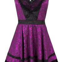 Jawbreaker Purple Halterneck Dress | Gothic Clothing | Emo clothing | Alternative clothing | Punk clothing - Chaotic Clothing