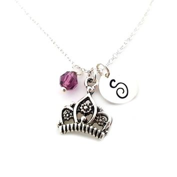 Crown Princess Charm - Personalized Sterling Silver Necklace